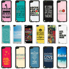 Sayings Quotes Case Cover for Apple iPod Touch 4 5 4th 5th Generation - 32