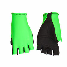 GUANTI CICLISMO PROLINE VERDE FLUO CYCLING GLOVES GREEN FLUO S M L XL NEW