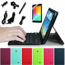 For LG G Pad 7.0 7-inch Tablet Bluetooth Keyboard PU Leather Case Cover Bundle