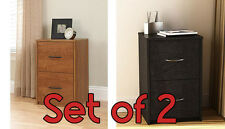 File Cabinet Home Office Storage Furniture Wood Drawer SET OF 2 New