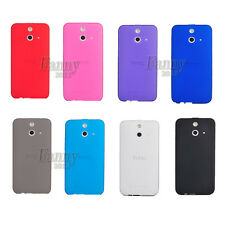 Matte Surface TPU Gel Rubber Silicone Case Skin Cover for HTC One (E8) dual sim