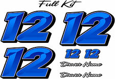 Graphic Chisel - Full Number Kit - RACE CAR, TRUCK, IMCA, OUTLAW, SPRINT