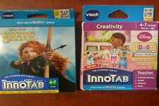 2 Games for Innotab 3,3S  New, Doc McStuffins And Disney Brave FREE SHIPPING