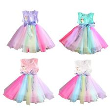 Kids Girls Infant Flower Tutu Princess Formal Party Pageant Dresses 0-5 Years