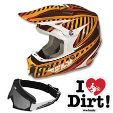 Fly Racing Helmet For2 Carbon System Atic - Caramel Mx - Bude Glasses Sticker