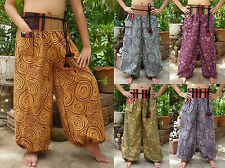 Harem Wide Leg Yoga Boho Bohemian Hippie Gypsy Genie Beach Dance Pants Trousers