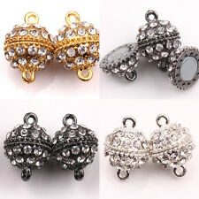 Fashion 5/10 Sets Round Ball Crystal Rhinestone Magnetic Clasps Jewelry 19x13mm