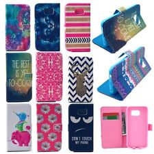 Cute Leather Flip Wallet Card Pocket Case Cover For Samsung Galaxy S6 &S6 Edge