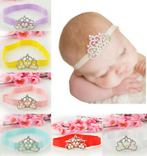 Baby Kids Infant Toddler Girl Princess Crown Pearl Headband Hairband Headwear