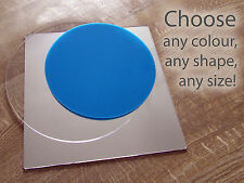 Perspex Cake Round Board Display Base Stand Acrylic Wedding Coloured Mirrored