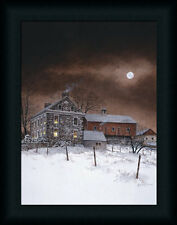 Oley White by Ray Stone House Country Farm Framed Art Print Wall Décor Picture