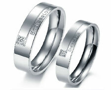 Fashion Stainless Steel Endless love couple rings Engagement Rings wedding Rings