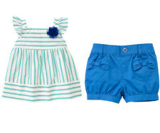 NWT Gymboree SEASIDE STROLL size 3T 4T 5T Striped Corsage Top & Bubble Shorts