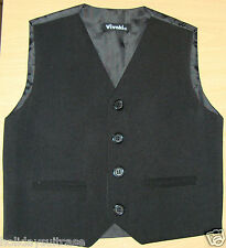 Baby boys black or grey waistcoat size age 0/3 months to 2 years clothing