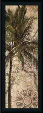 Exotic Destination I Tropical Palm Tree Framed Art Print Wall Décor Picture