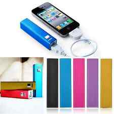 Portable External USB 2600mAh Power Bank Backup Battery Charger For Iphone 5 5S