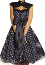 VINTAGE 1950'S ROCKABILLY STYLE SWING PINUP WRAP EVENING PARTY DRESS [6 sizes]