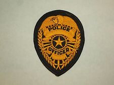 Vintage Police Officer Police Department Unknown Embroidered Iron On Patch