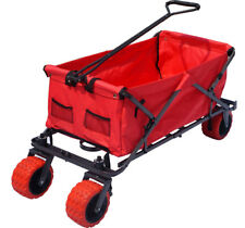 Folding Wagon Utility Cart Collapsible Beach Wagon Garden Buggy Outdoor Wagon