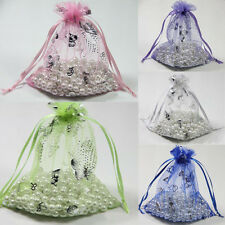Lots 25/100Pcs Organza Gift Bag Sheer Jewelry Pouch Wedding Favor Bags 12*9cm