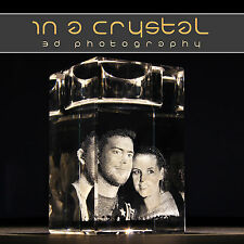 3D CRYSTAL PHOTO // UNIQUE CANDLE HOLDER  // CUSTOMISED GIFTS !!1
