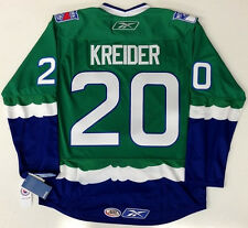 CHRIS KREIDER CONNECTICUT WHALE REEBOK PREMIER GREEN JERSEY NEW YORK RANGERS