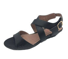 Ladies Shoes Step On Air Martos Black/Snake Wedge Sandals Size 6-11 New comfy