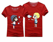 Lovers short-sleeved Couple T-SHIRT Blowing bubbles t-shirt men and women