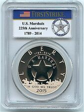 2015-P $1 Silver Dollar US Marshals Service, PCGS PR-69 DCAM, First Strike!