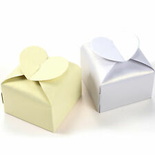 50 Pcs Heart Style Wedding Party Baby Shower Favor Gift Candy Boxes