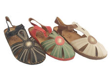 Ladies Shoes Be Me Marin Covered Toe Slingback Sandals Size 6-11 Velcor Tab