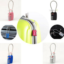 TSA 3 DIAL Combination Travel Luggage Lock Safe Security Suitcase Bag Padlock