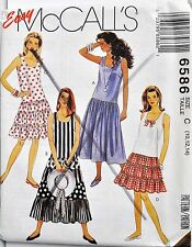 McCalls Sewing Pattern # 6586 Misses Summer Dress in 2 Lengths Choose Size