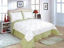 All For you 3 pc reversible quilt set, bedspread,coverlet-twin/full/queen/king