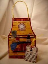 Handmade Greeting Card - BBQ Apron for Men Tent Card
