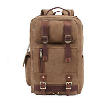"""Classic Canvas Vintage Fashion Unisex School Travel Backpack For 16"""" Laptop"""