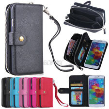 PU Leather Wristlet Clutch Handbag Wallet Case Cover For Samsung Galaxy Series