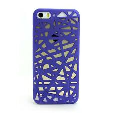 Interwove Line Mesh Bird Nest Style Hollow Hard Skin Case Cover for iPhone 5 5G