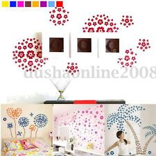 Pegatina Pared Vinilo Decorativo DIY 3D Flores Mariposa Hogar Decoración Decal