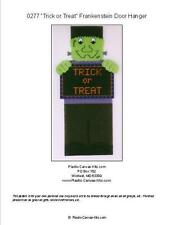 Halloween Frankenstein Trick or Treat Wall Hanging-Plastic Canvas Pattern or Kit
