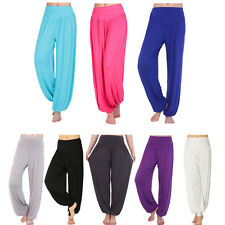 Sexy Women Girl Comfy Harem Wide Trousers Belly Dance Club Boho Yoga Long Pants