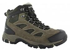 NEW Men's HI-TEC LOGAN WATERPROOF Brown/Olive Leather Casual Hiking/Work Boots