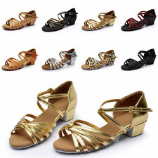 ST Brand New Women Children Girl's Ballroom Latin Tango Dance Shoes heeled Salsa