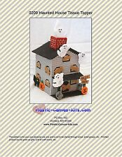 Halloween Haunted House Tissue Topper-Plastic Canvas Pattern or Kit