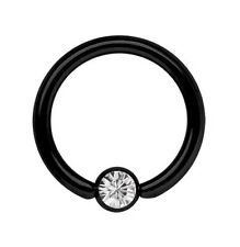 Piercing Jewelry Intimate Ring BCR black 1,6mm with 5mm Captive ball Ring Size