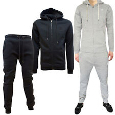 Mens Crosshatch New Hoody Sweat Top Or Skinny Slim Fit Fleece Joggers Trousers