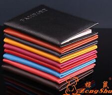 New litchi stripe Passport Holder Protector Cover Wallet PU Leather Cover A186