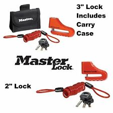 "MasterLock Disc Brake Lock 2"" 3"" Street Sport Bike Security Triumph BMW"