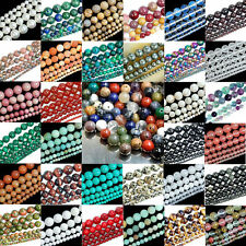 Vogue Lots Gemstone Round Spacer Loose Beads DIY Making 4mm 6mm 8mm 10mm 12mm