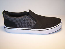 VANS ASHER Youth Shoes Skate Shoes Kids Sneakers Black Grey Sketchy Plaid NEW